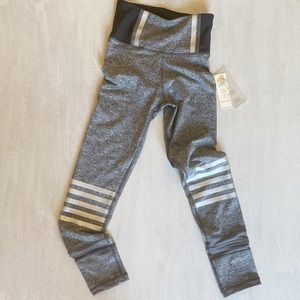 C & C CALIFORNIA Gray Stripe Leggings sz xs